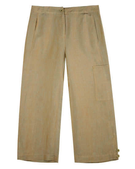 Cross Dyed Linen Viscose Pant