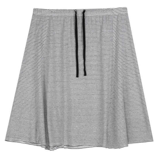 Organic Linen Jersey Skinny Stripe Skirt