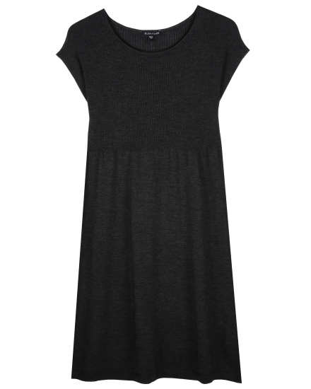 Washable Wool Rib Release Dress