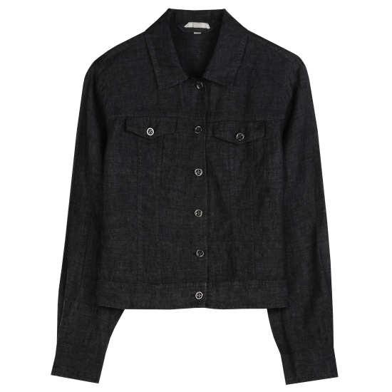 Washed Organic Linen Delave Jacket