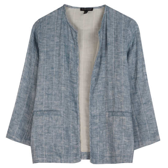 Quilted Organic Linen Gauze Jacket