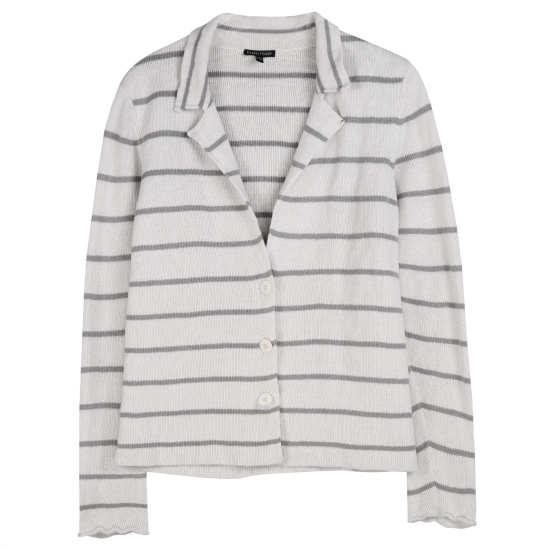 Cotton Metallic Stripes Jacket