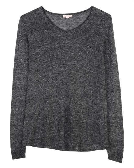 Mottled Linen Knit Pullover