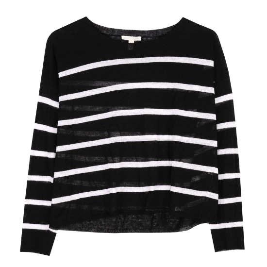 Fine Organic Linen Crepe Stripe Pullover