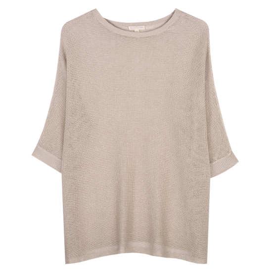 Fine Gauge Linen Mesh Pullover