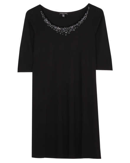 Stretch Silk Jersey with Sequins Dress
