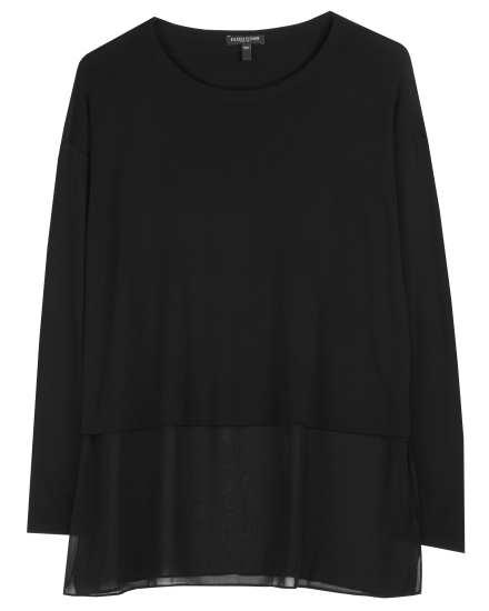 Stretch Silk Jersey with Sheer Silk Tunic
