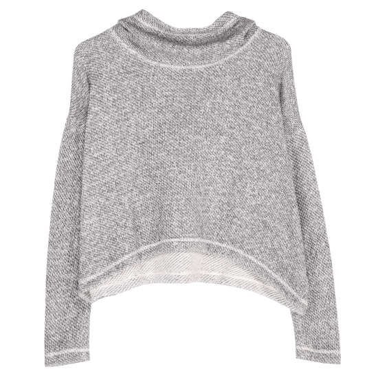 Twisted Organic Cotton Terry Pullover