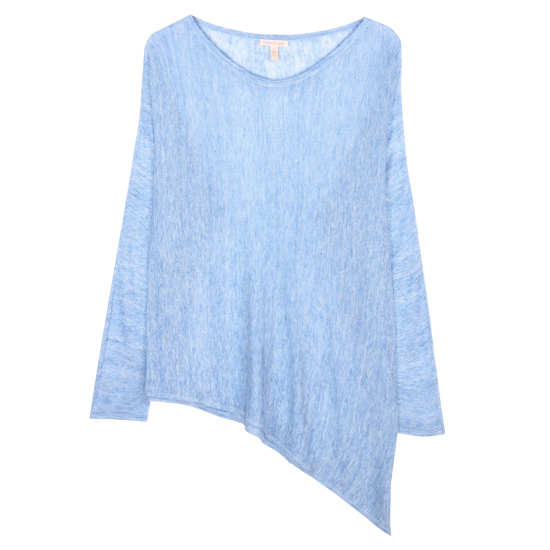 Airy Linen Melange Links Pullover