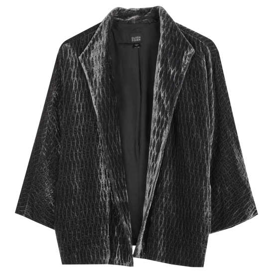 Quilted Velvet Lattice Jacket