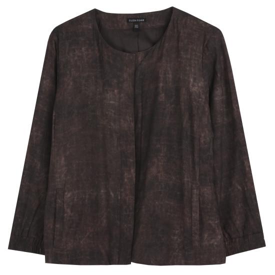 Mud Printed Silk Jacket