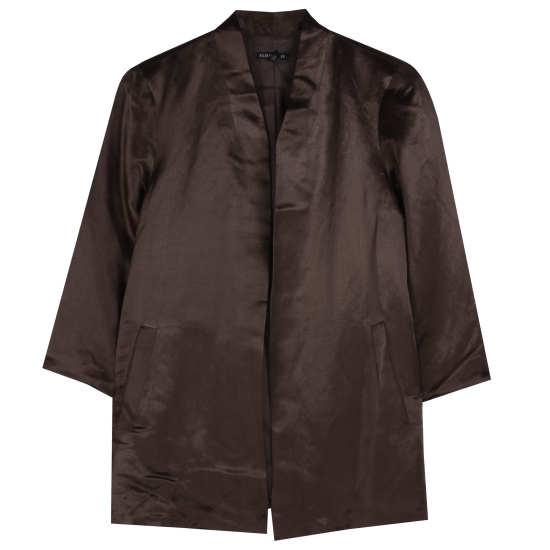 Organic Linen Silk Satin Jacket