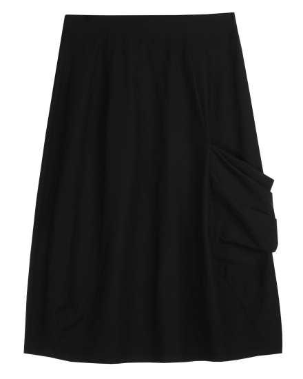 Washable Stretch Crepe Skirt