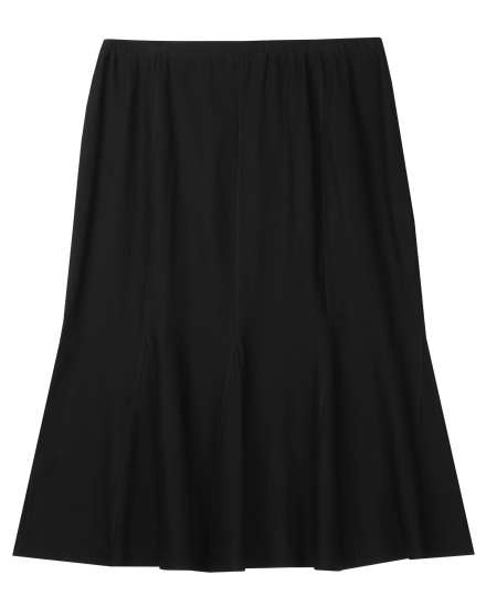 Washable Stretch Crepe Skirt