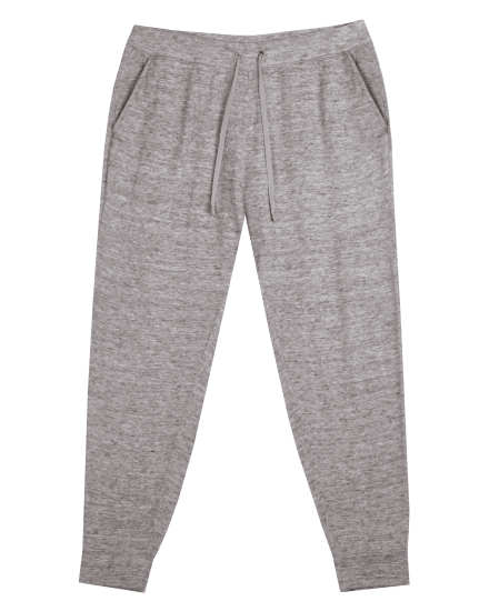Heathered Linen Cotton Terry Pant