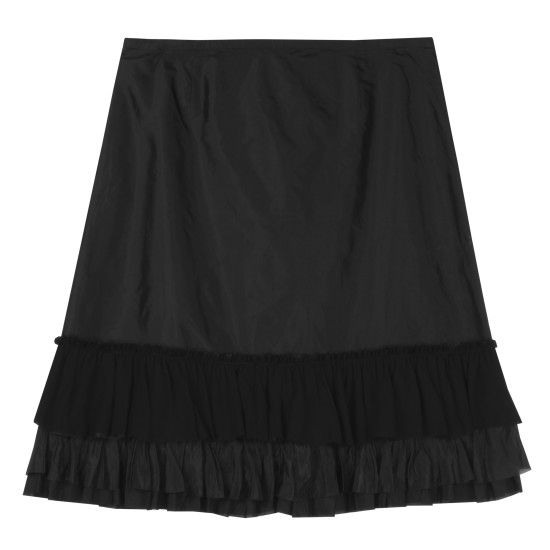 Washed Silk Taffeta Skirt