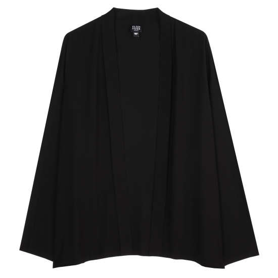 Broken Chevron Printed Silk Crepe Jacket