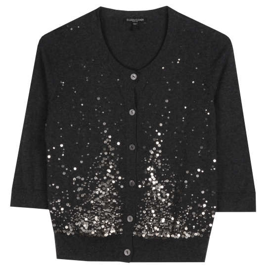 Organic Cotton & Cashmere With Sequins Cardigan