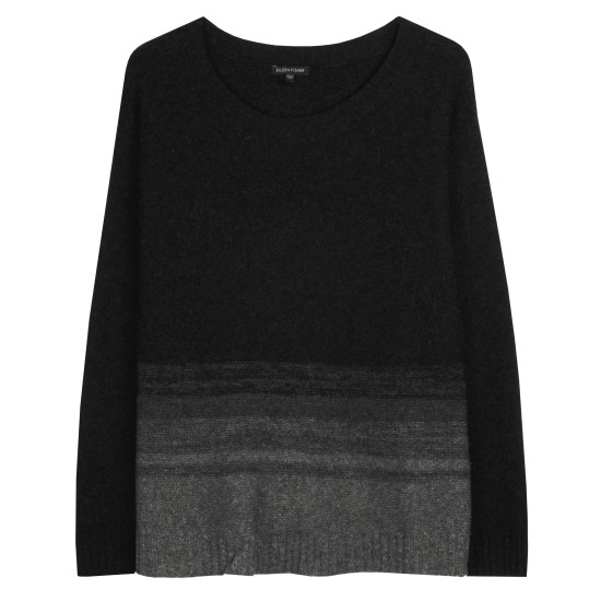 Supersoft Yak and Merino Ombre Stripe Pullover
