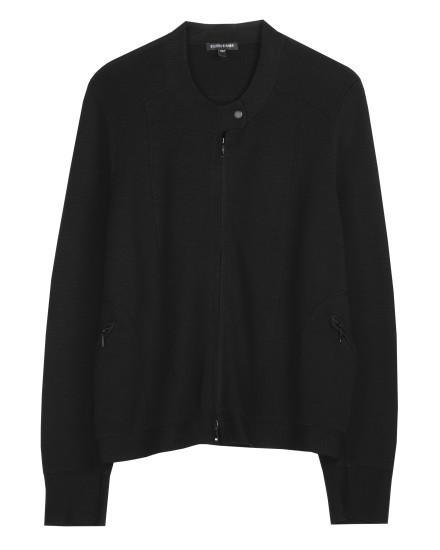 Superfine Washable Wool Interlock Jacket
