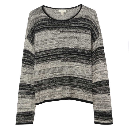 Washable Wool & Organic Linen Stripe Pullover