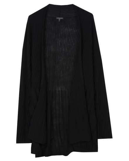 Washable Wool Rib Release Pleat Cardigan