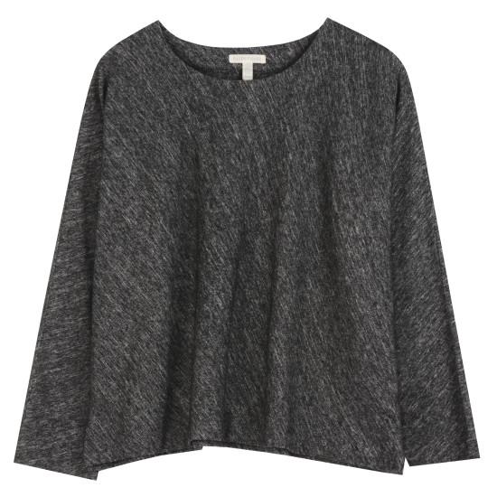 Organic Cotton & Wool Bias Twist Pullover