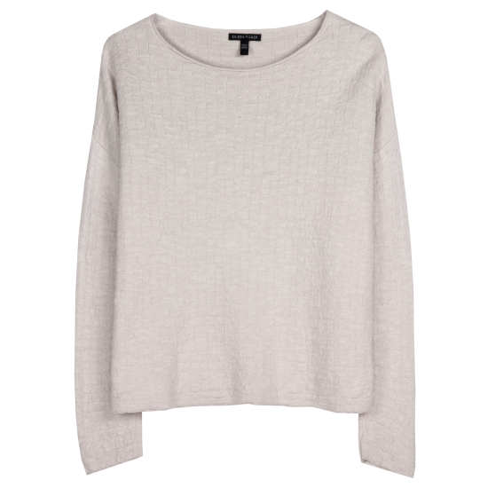 Organic Linen & Cotton Grid Pullover