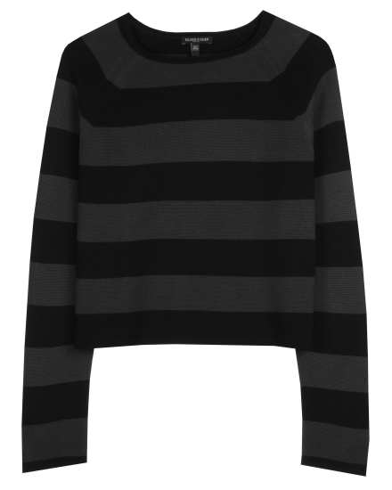 Silk & Organic Cotton Interlock Stripe Pullover