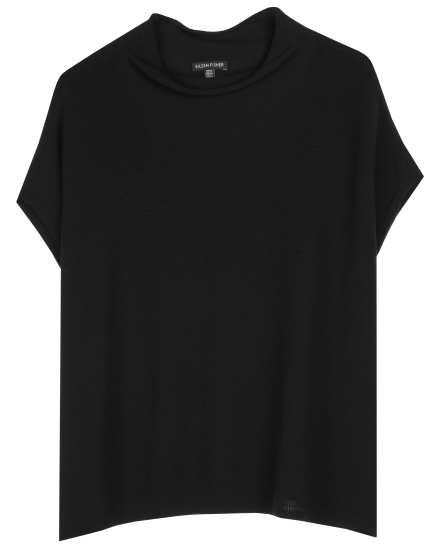 Sleek Organic Cotton Sheer Jersey Pullover