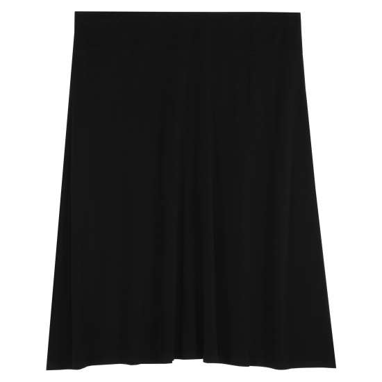 Stretch Silk Jersey Skirt