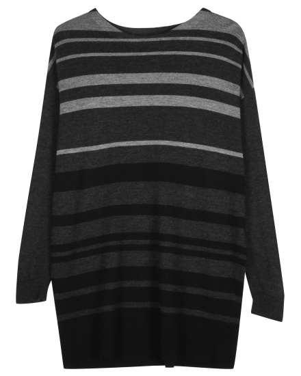 Merino Jersey Tonal Stripe Pullover