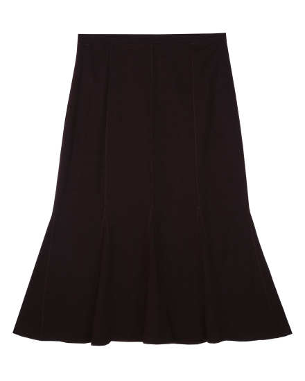 Viscose Wool Knit Skirt