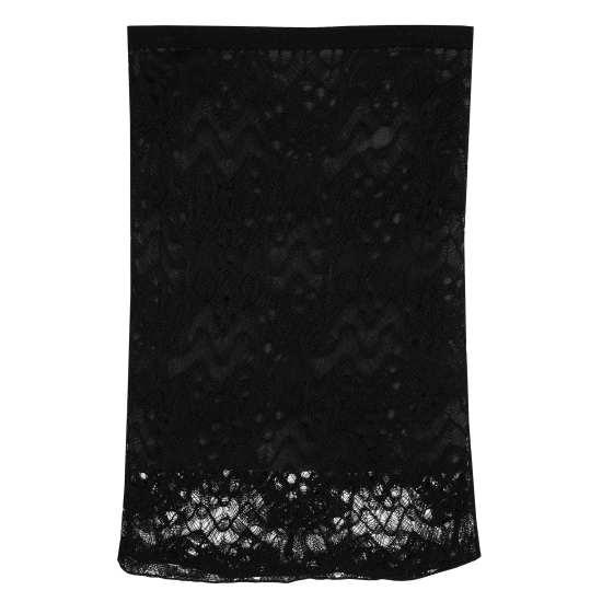 Rayon Nylon Crinkle Lace Skirt