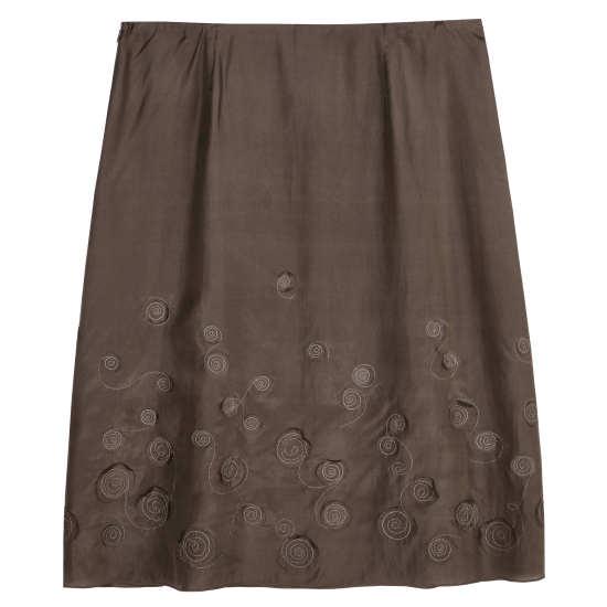 Stitched Round Habutai Skirt