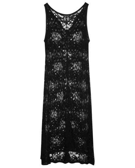 Rayon Nylon Crinkle Lace Dress