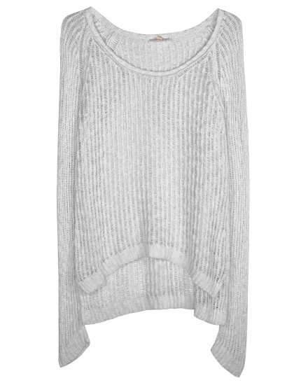 Organic Cotton Nubble Ladder Pullover