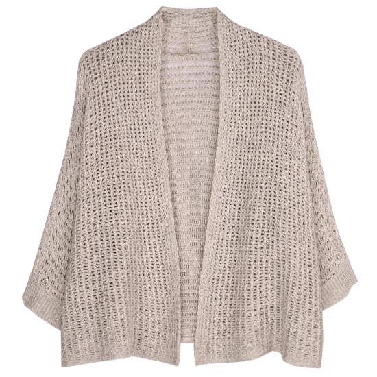 Cotton Linen Chain Stitch Cardigan