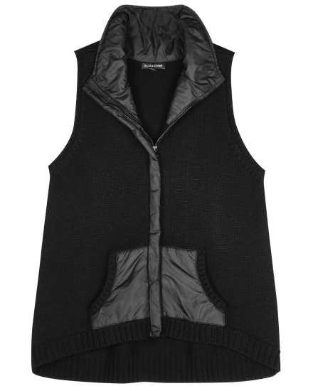 Merino w/Parka Trim Vest