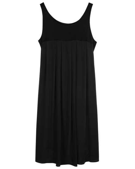 Silk Cotton Jersey W/silk Crepe De Chine Dress