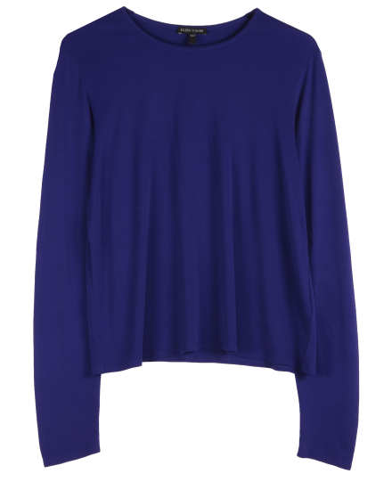 Stretch Silk Jersey Blouse