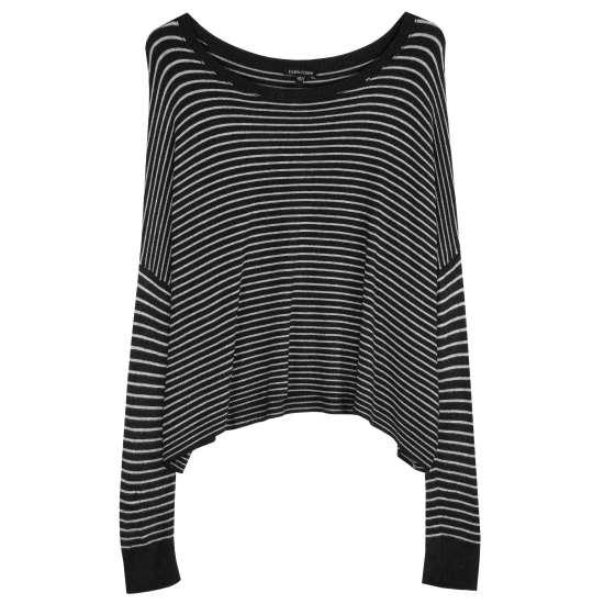 Cozy Viscose Stretch Stripe Pullover