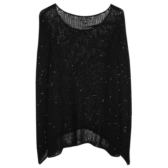 Sequin Chainmail Knit Pullover