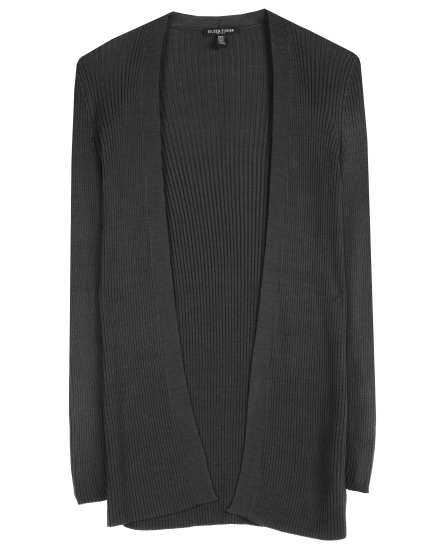 Sleek Tencel Rib Cardigan