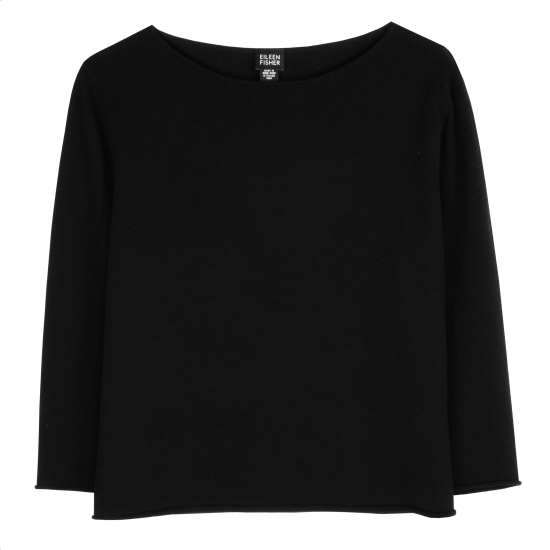 Washable Wool Crepe Jersey Pullover