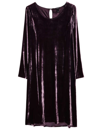 Washable Stretch Velvet Stretch Velvet [Lined Styles] Dress