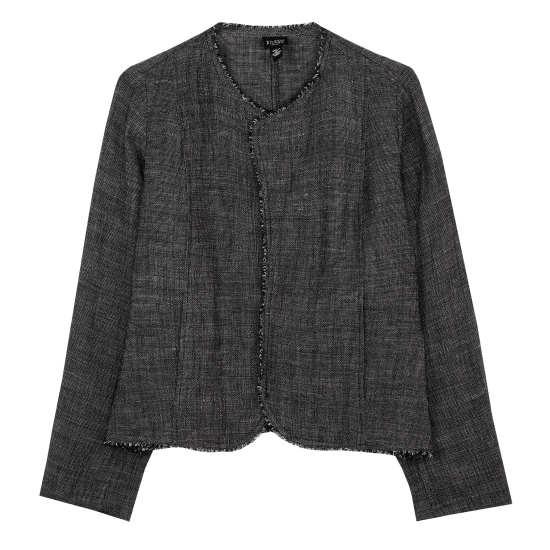 Linen Rayon Tweed Jacket