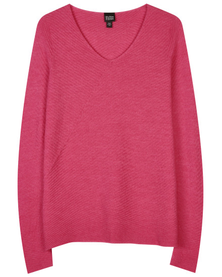Washable Wool Crepe Diagonal Pullover