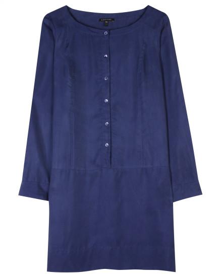 Sandwashed Silk Twill Dress