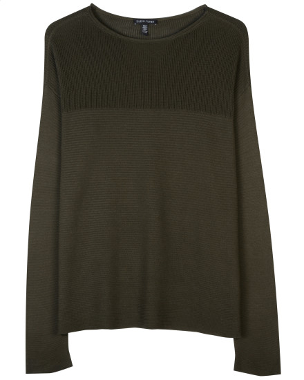 Sleek Tencel Rib Pullover